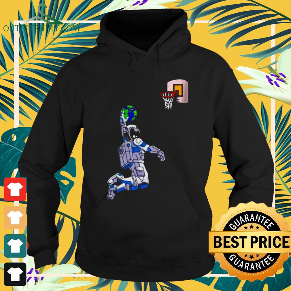 Astronaut Space Earth dunking basketball hoodie