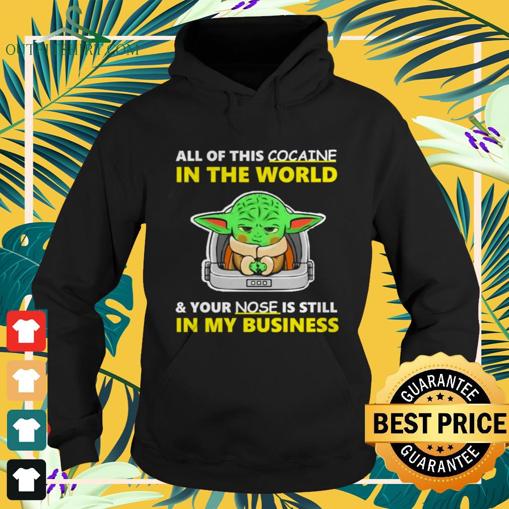 Baby Yoda All of this cocaine in the world and your nose is still in my business hoodie