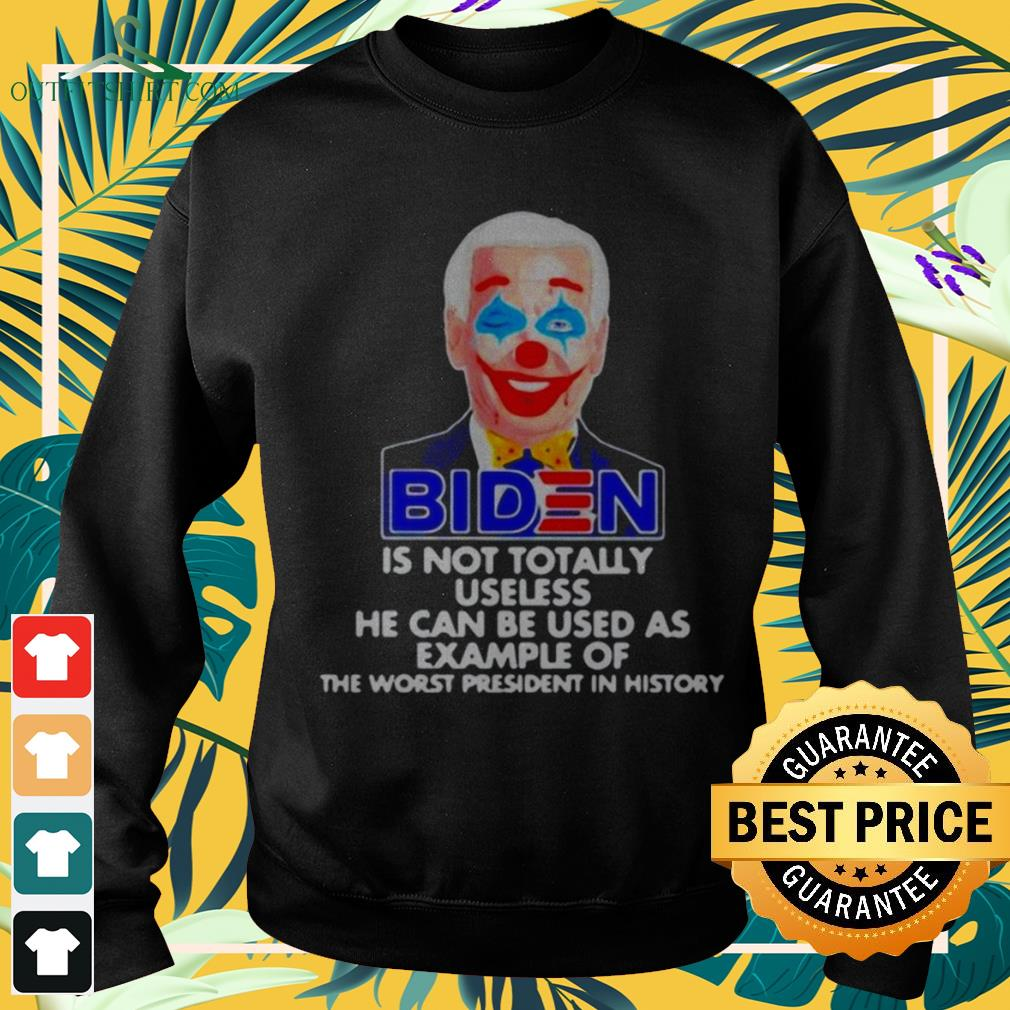 Biden clown is not totally useless he can be used as example sweater