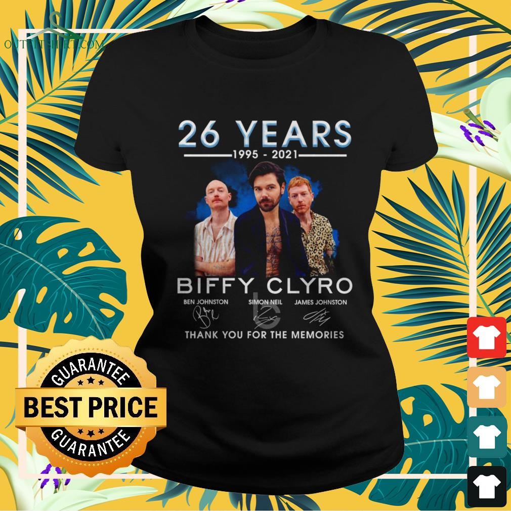 Biffy Clyro 26 years 1995-2021 thank you for the memories signatures ladies-tee