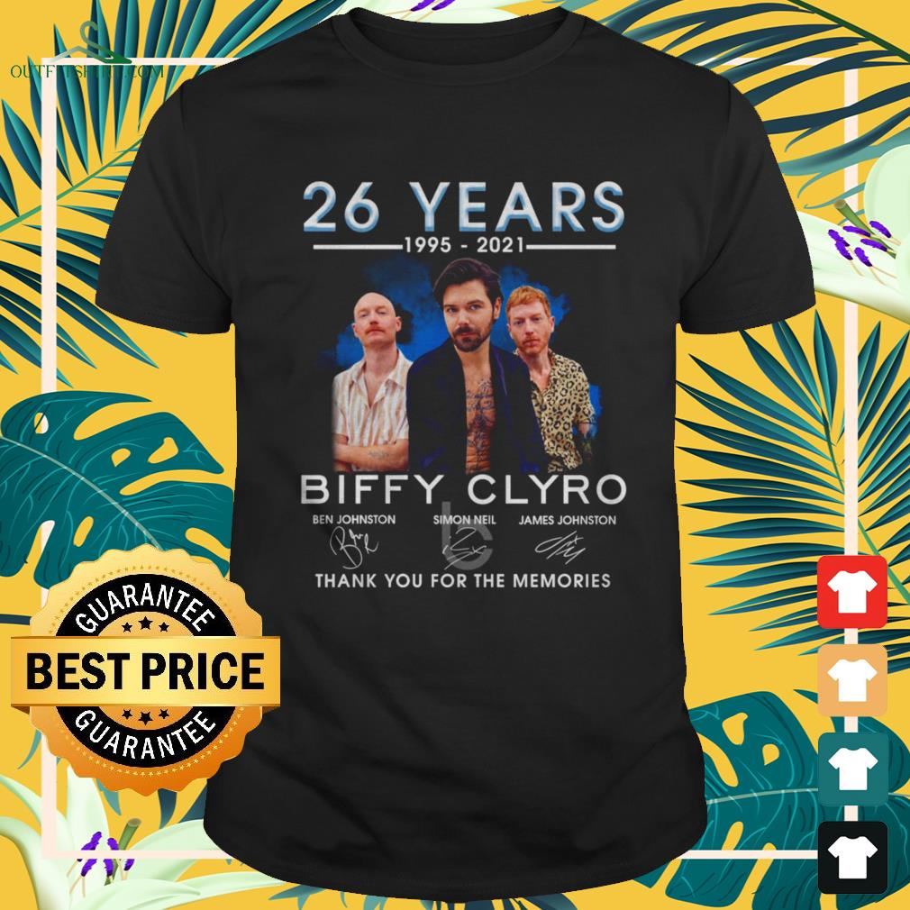 Biffy Clyro 26 years 1995-2021 thank you for the memories signatures shirt