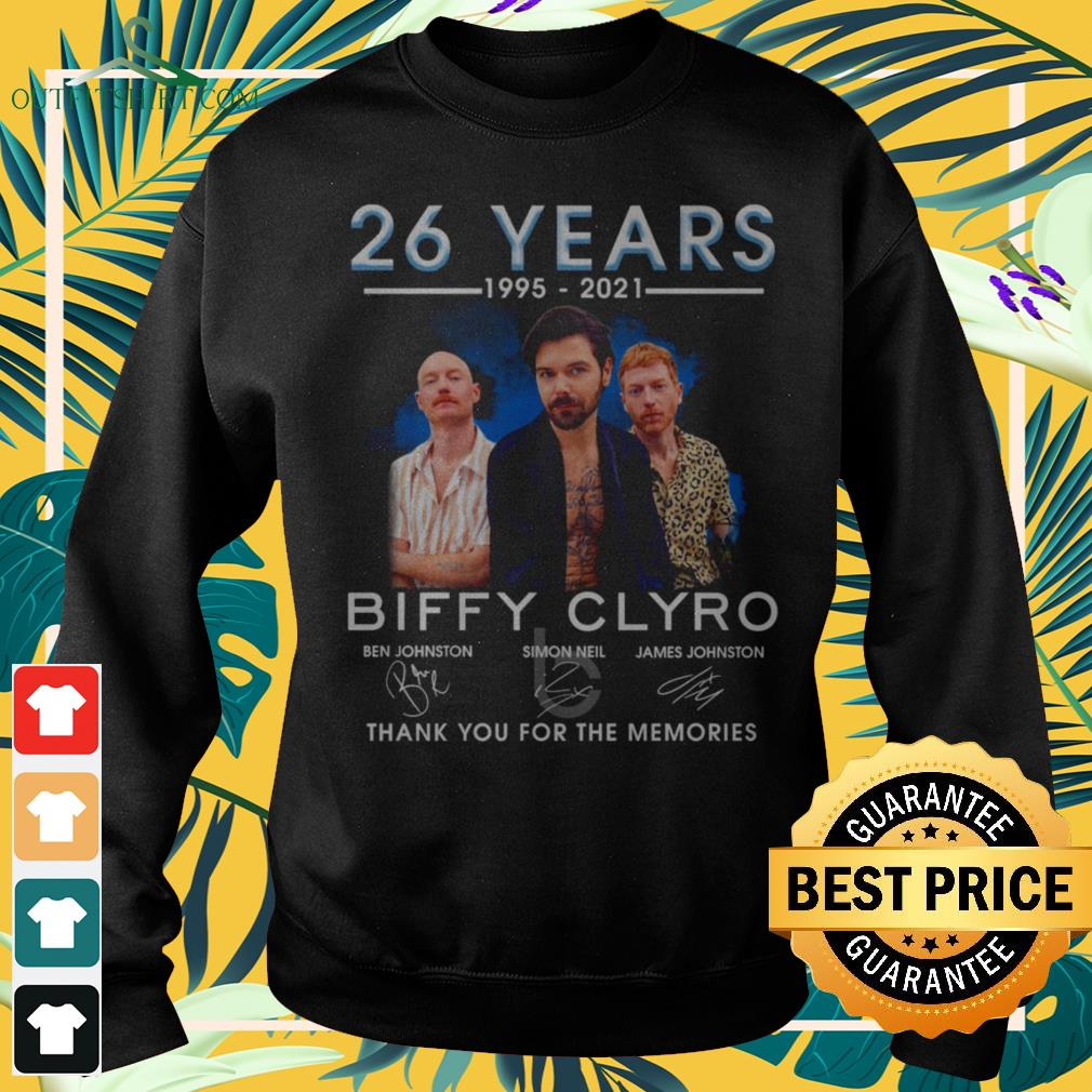 Biffy Clyro 26 years 1995-2021 thank you for the memories signatures sweater