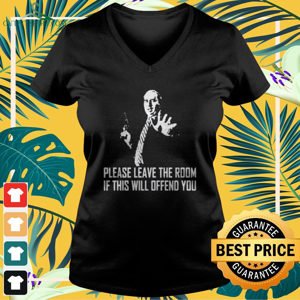 Budd Dwyer Please leave the room if this will offend you v-neck t-shirt