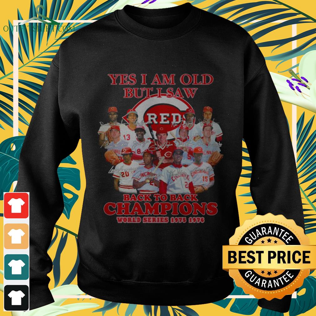 Cincinnati Reds Yes I am old but I saw Reds back to back champions world series sweater
