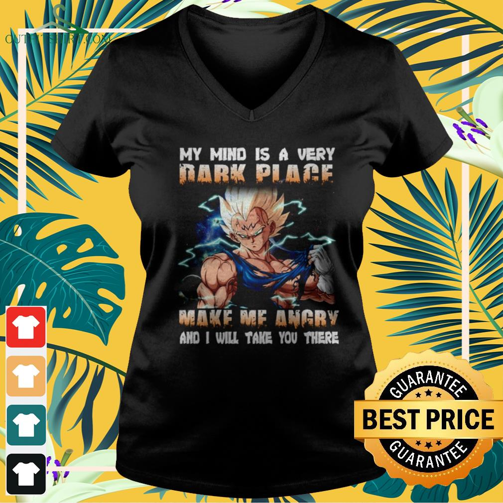 Dragon Balls My mind is a very dark place make my angry and I will take you there v-neck t-shirt