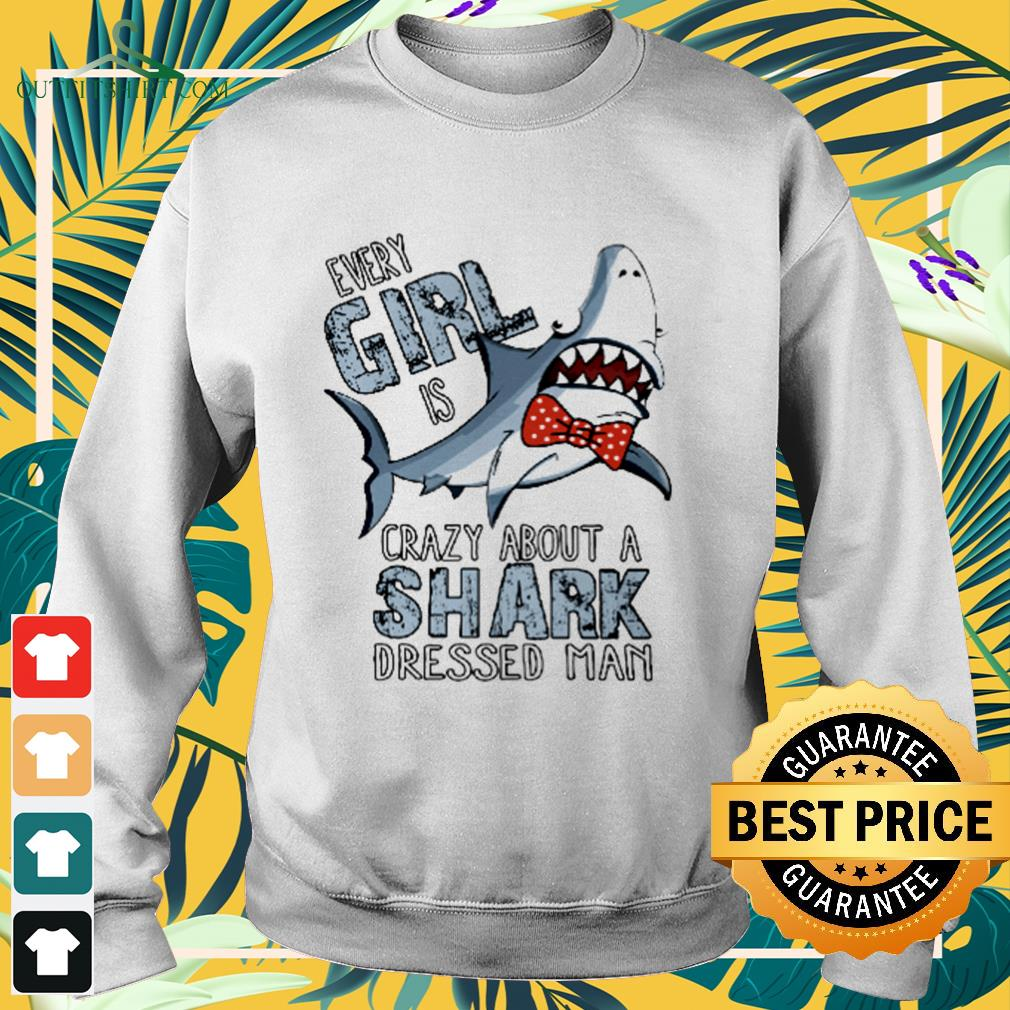 Every girl is crazy about a shark dressed man sweater