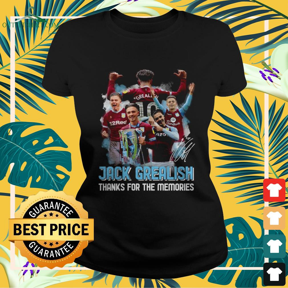 Jack Grealish thanks for the memories signature ladies-tee