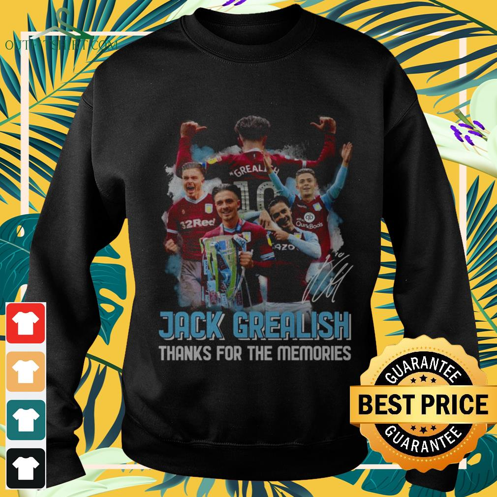 Jack Grealish thanks for the memories signatures sweater