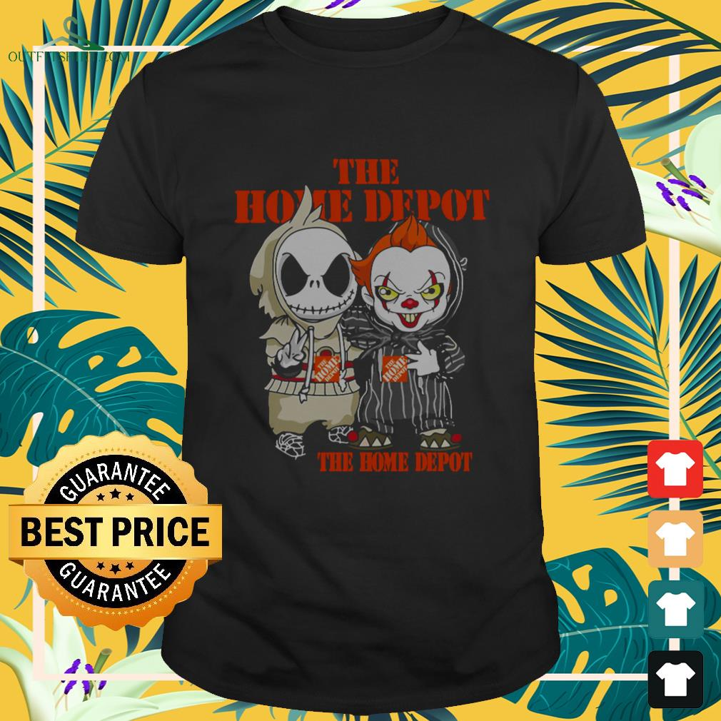 Jack Skellington And Pennywise The Home Depot Halloween shirt
