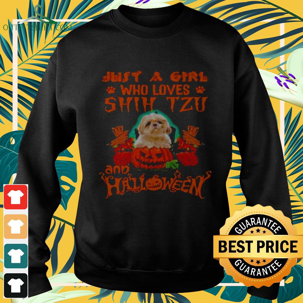 Just a girl who loves Shih Tzu and Halloween sweater