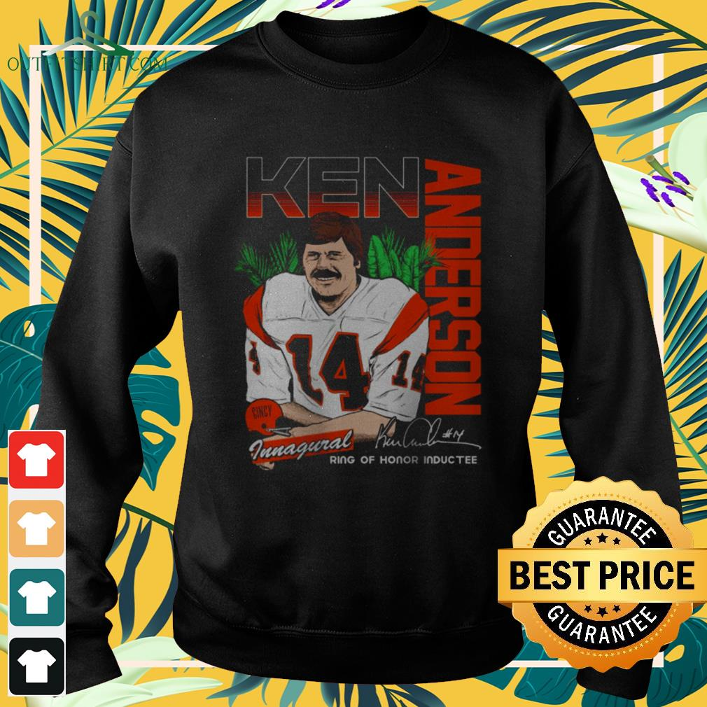 Ken Anderson Ring of honor inductee signature sweater