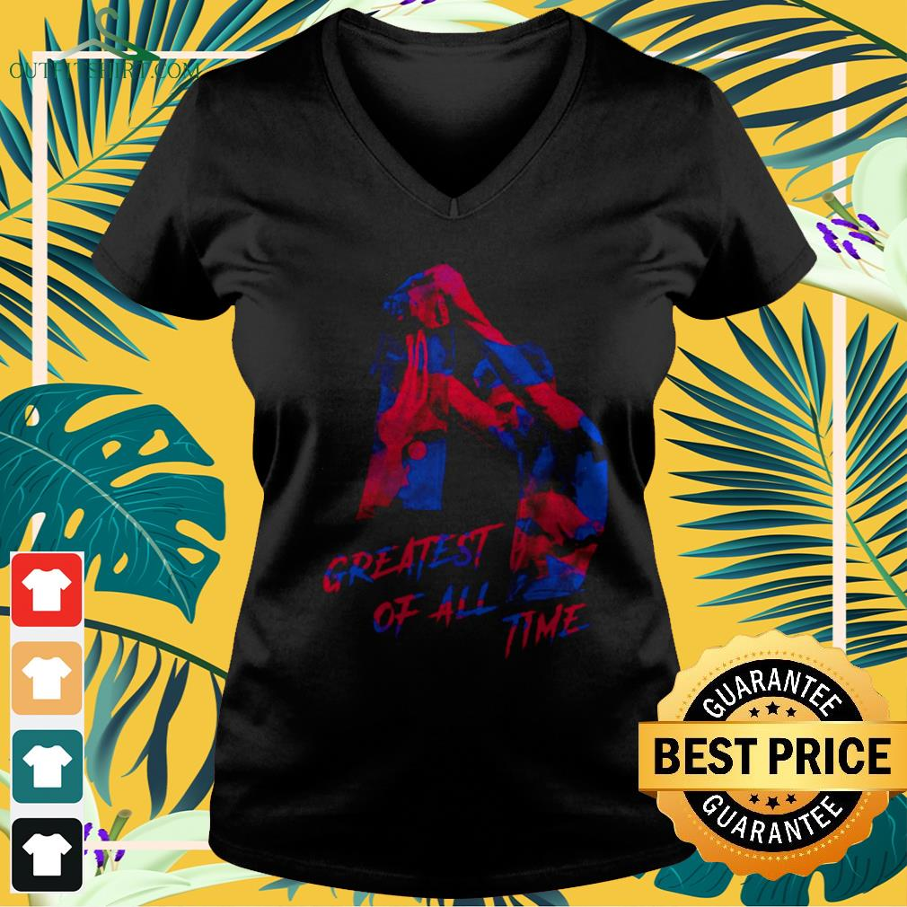 Lionel Messi greatest of all time v-neck t-shirt