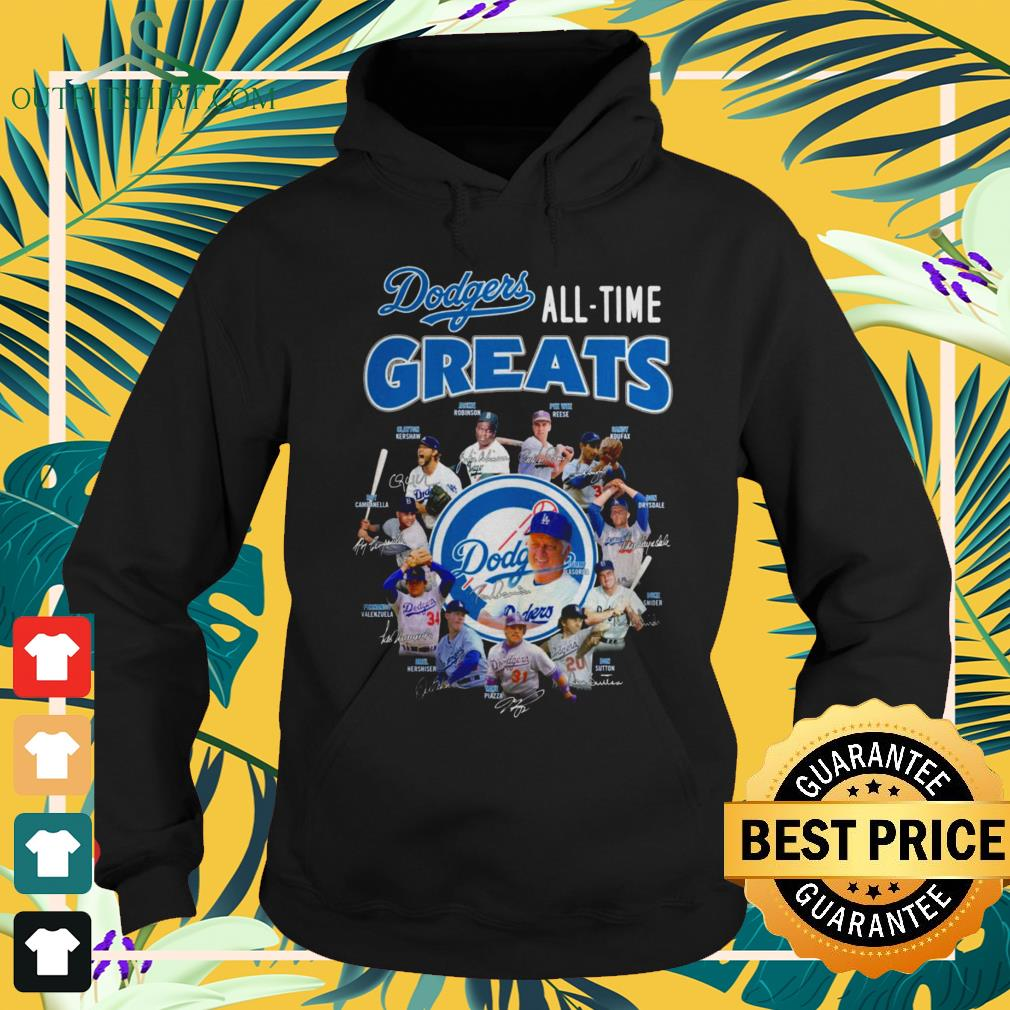 Los Angeles Dodgers All-time greats signatures hoodie