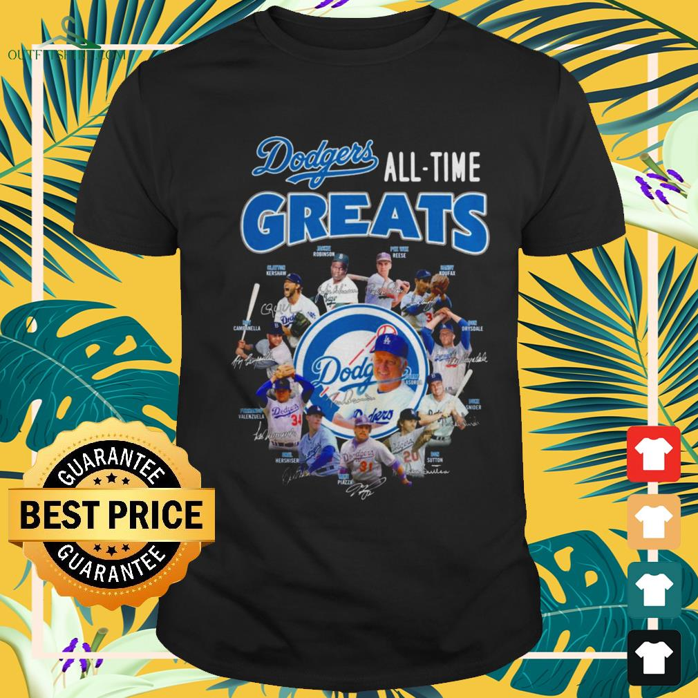 Los Angeles Dodgers All-time greats signatures shirt