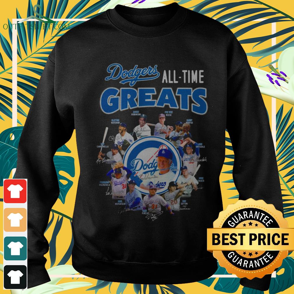 Los Angeles Dodgers All-time greats signatures sweater