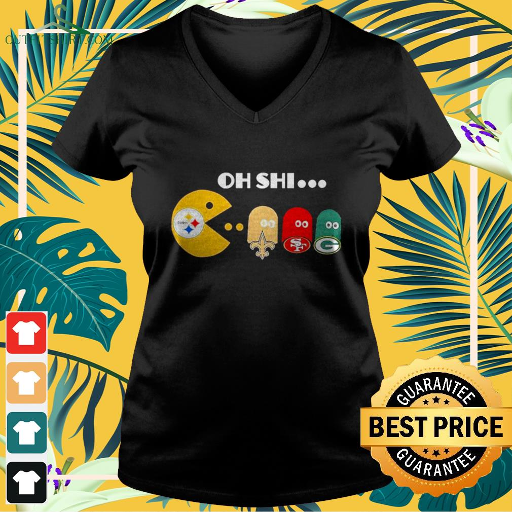 Oh Shi Pittsburgh Steelers Pacman Orleans Saints San Francisco 49ers And Green Bay Packers