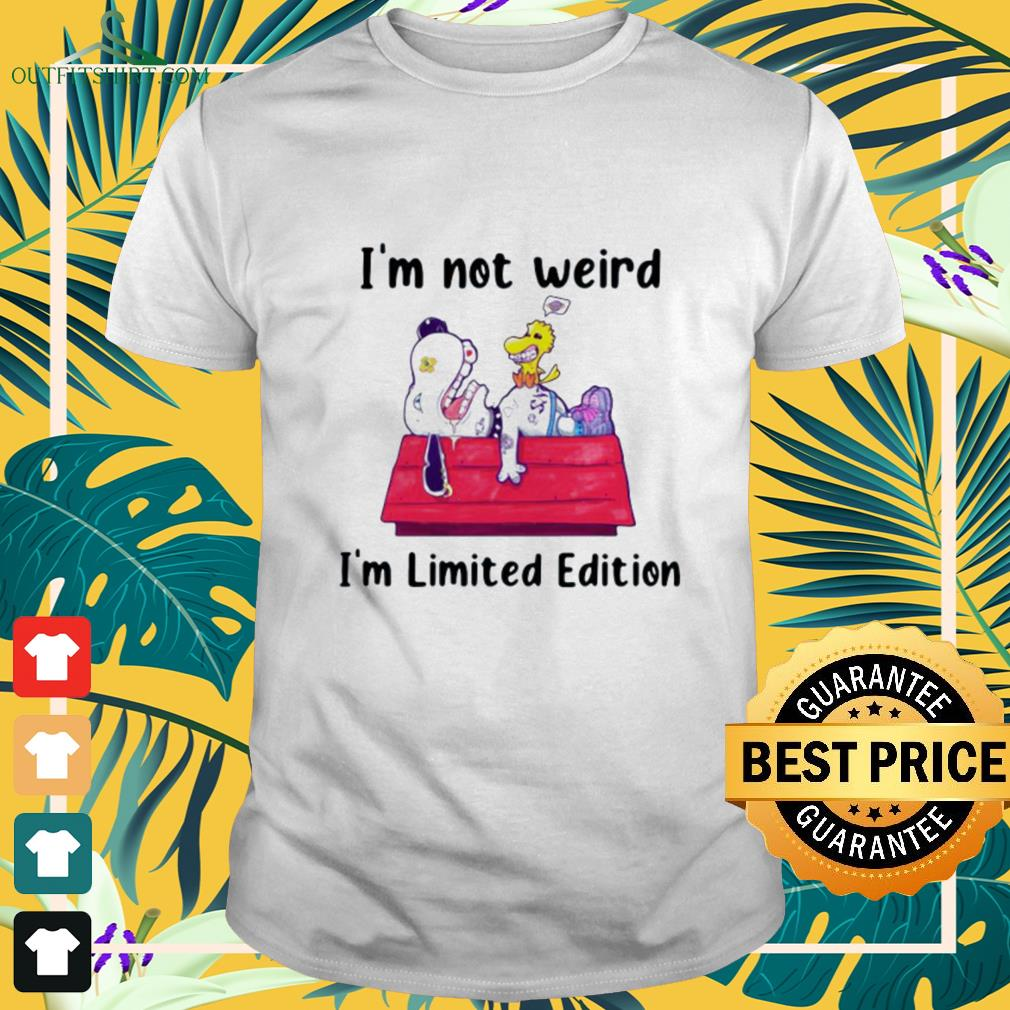 Snoopy and Woodstock I'm not weird I'm limited edition shirt