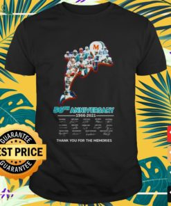 Miami Dolphins 56th Anniversary thank you for the memories signatures shirt